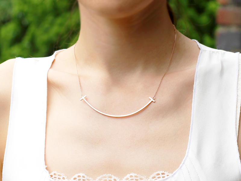 Sterling Silver Smile Necklace