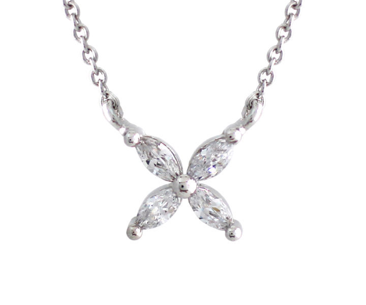 pendant gift top quality beautiful jewelry silver wedding new design flower necklace fashion women for item