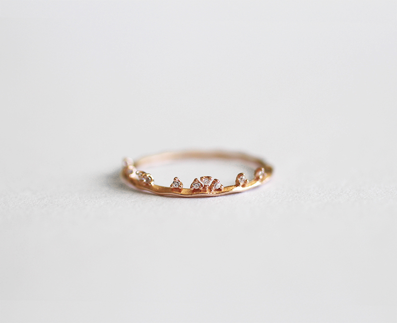 58fc9d161d6759 Rose Gold Cluster CZ Crown Wavy Thin Ring. $29.00. * Metal: 925 sterling  silver