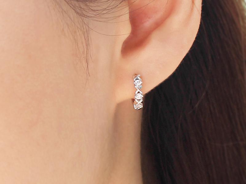 XOXO CZ Cute Mini Silver Hoop Earrings - 925 sterling ...